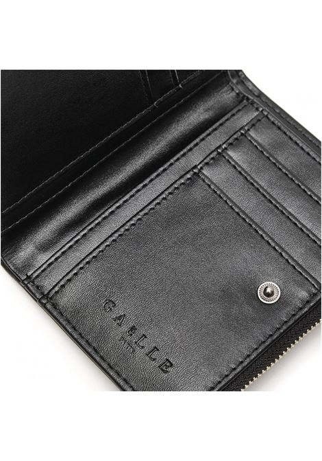 portafoglio medio con logo in metallo GAELLE paris | GBDA2705NERO