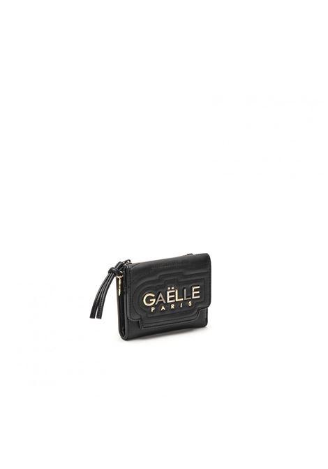 portafoglio medio con logo in metallo GAELLE paris   GBDA2705NERO