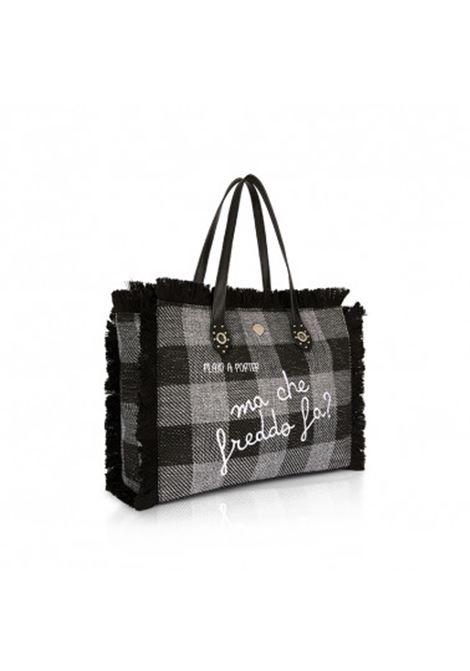 borsa shopper paloma in lana LE PANDORINE | PALOMA BAG FREDDOCHECK GREY
