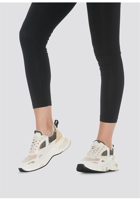 sneakers in suede e mesh LIU.JO | BF1015PX096SAND