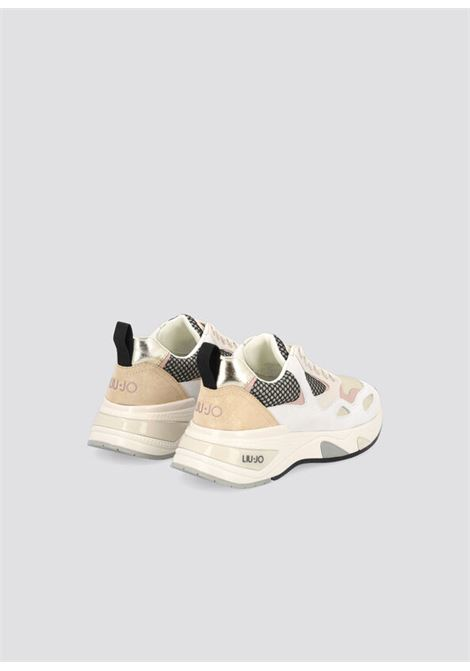 sneakers in suede e mesh LIU.JO   BF1015PX096SAND