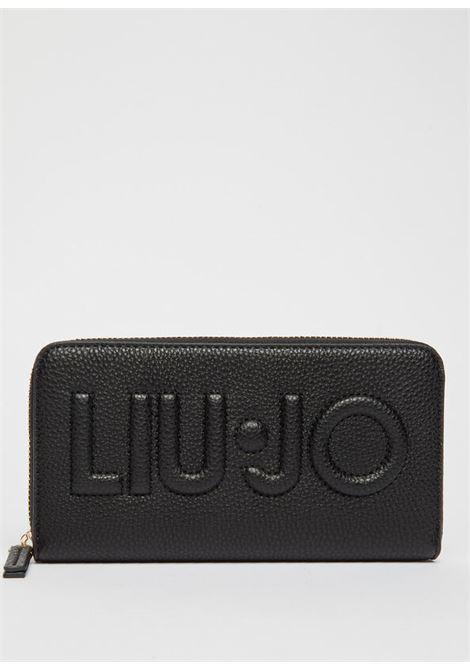 Portafoglio zip around con logo LIU.JO | NF1268E008622222