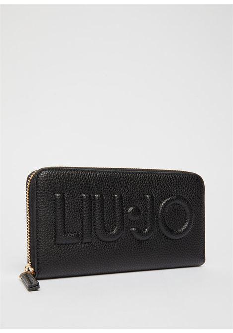 Portafoglio zip around con logo LIU.JO   NF1268E008622222