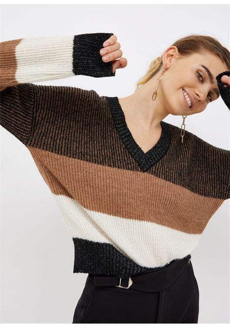 maglia a righe LIU.JO | WF1516MA02MS9297