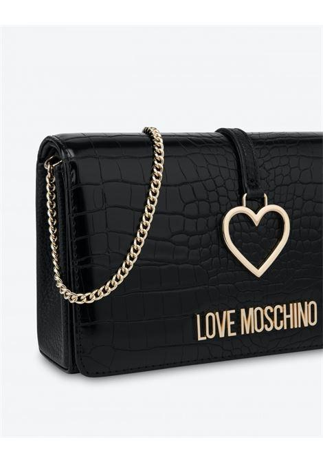 pochette con charm cuore LOVE MOSCHINO | JC4290PP0DKFNERO