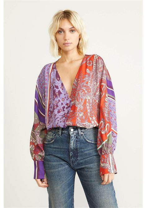 Camicia viscosa stamapa foulard SOUVENIR | J30Y1025FANTASIA VIOLA