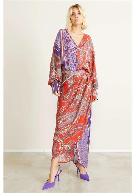 Camicia viscosa stamapa foulard SOUVENIR   J30Y1025FANTASIA VIOLA