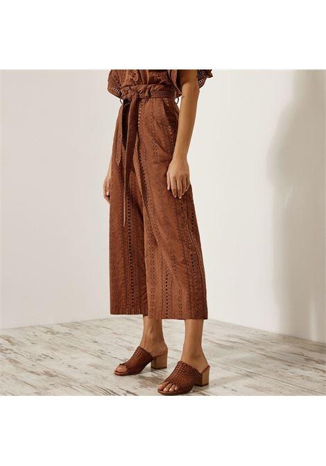 Pantalone cropped in pizzo ricamato ACCESS fashion | S1-5058367