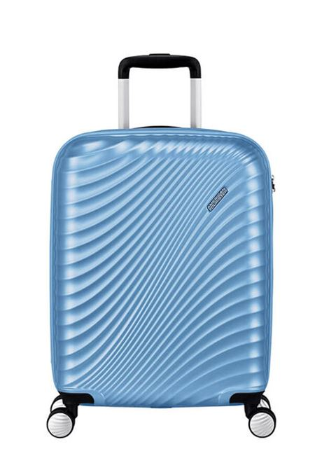 Trolley Cabin case | 4 ruote | 55 cm AMERICAN TOURISTER | JETGLAM 55/20METALLIC POWDER BLUE