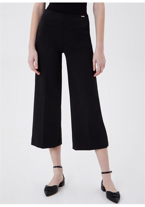 Pantalone cropped ampio nero LIU.JO | WA1388 J403422222