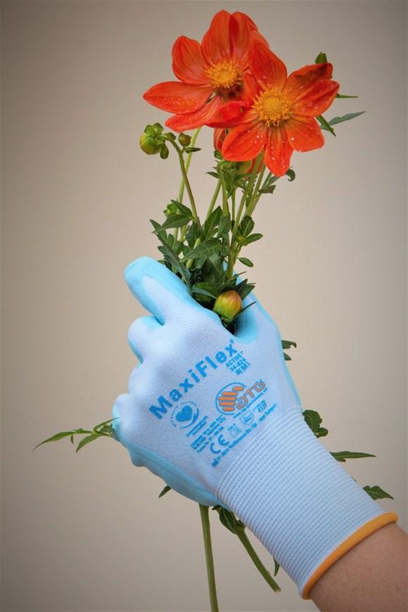 Gardening Gloves Size 8 (orange cuff)