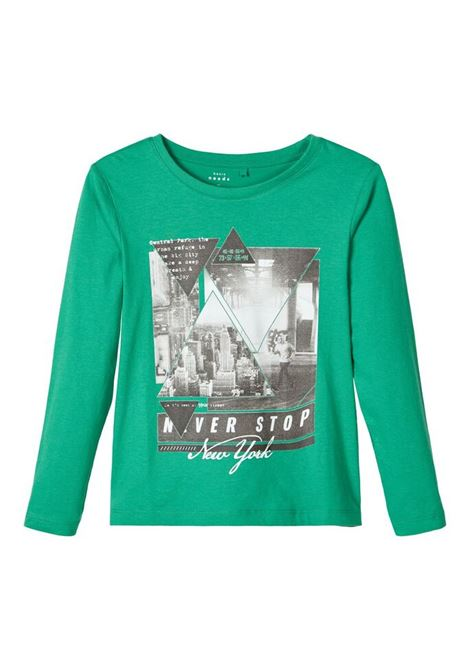 t-shirt giro collo a maniche lunghe NAME.IT | T-shirt | 13171466VERDE