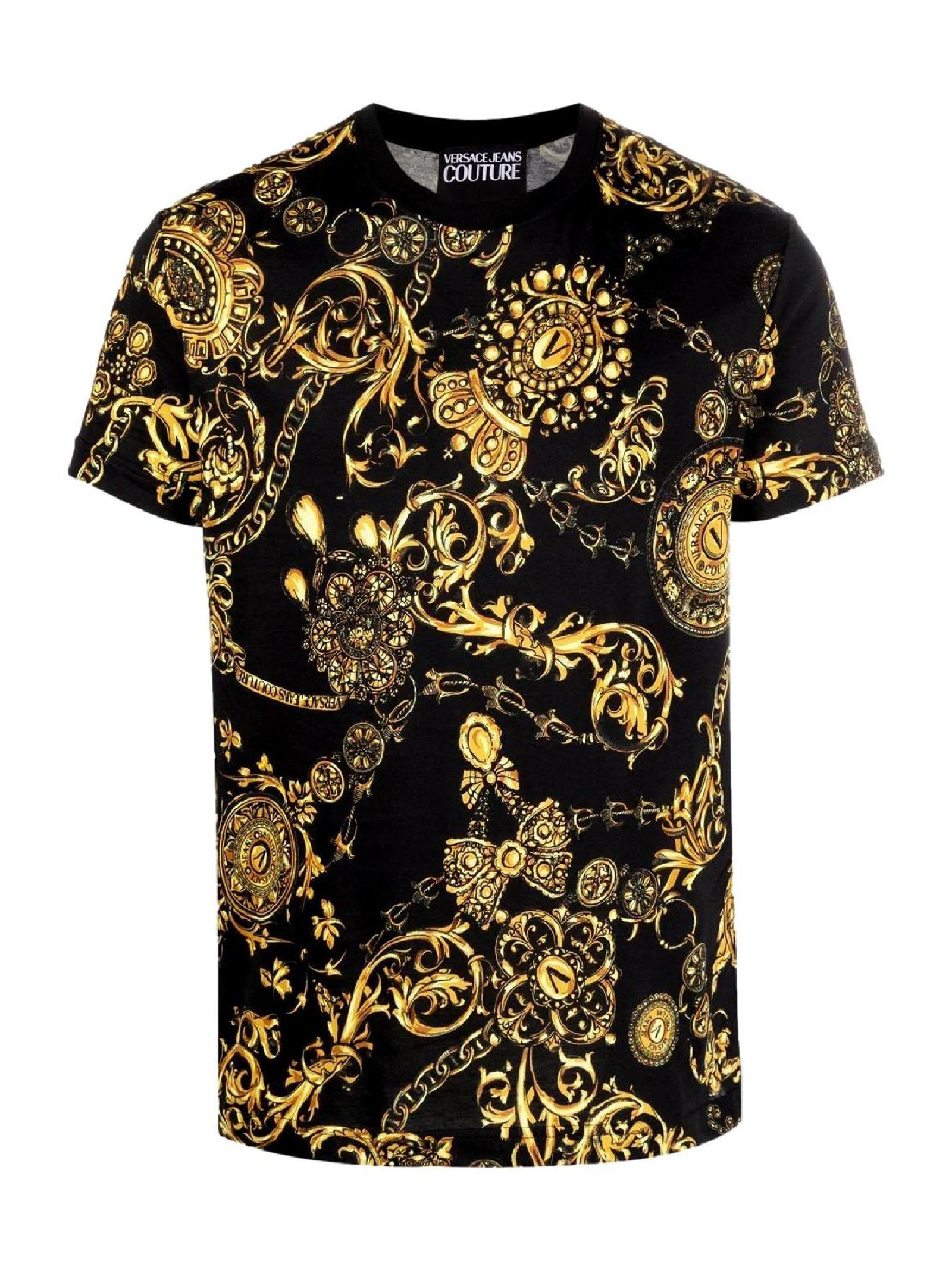t-shirt maiche corte con stampa VERSACE JEANS | T-shirt | 71GAH6S0 JS015G89