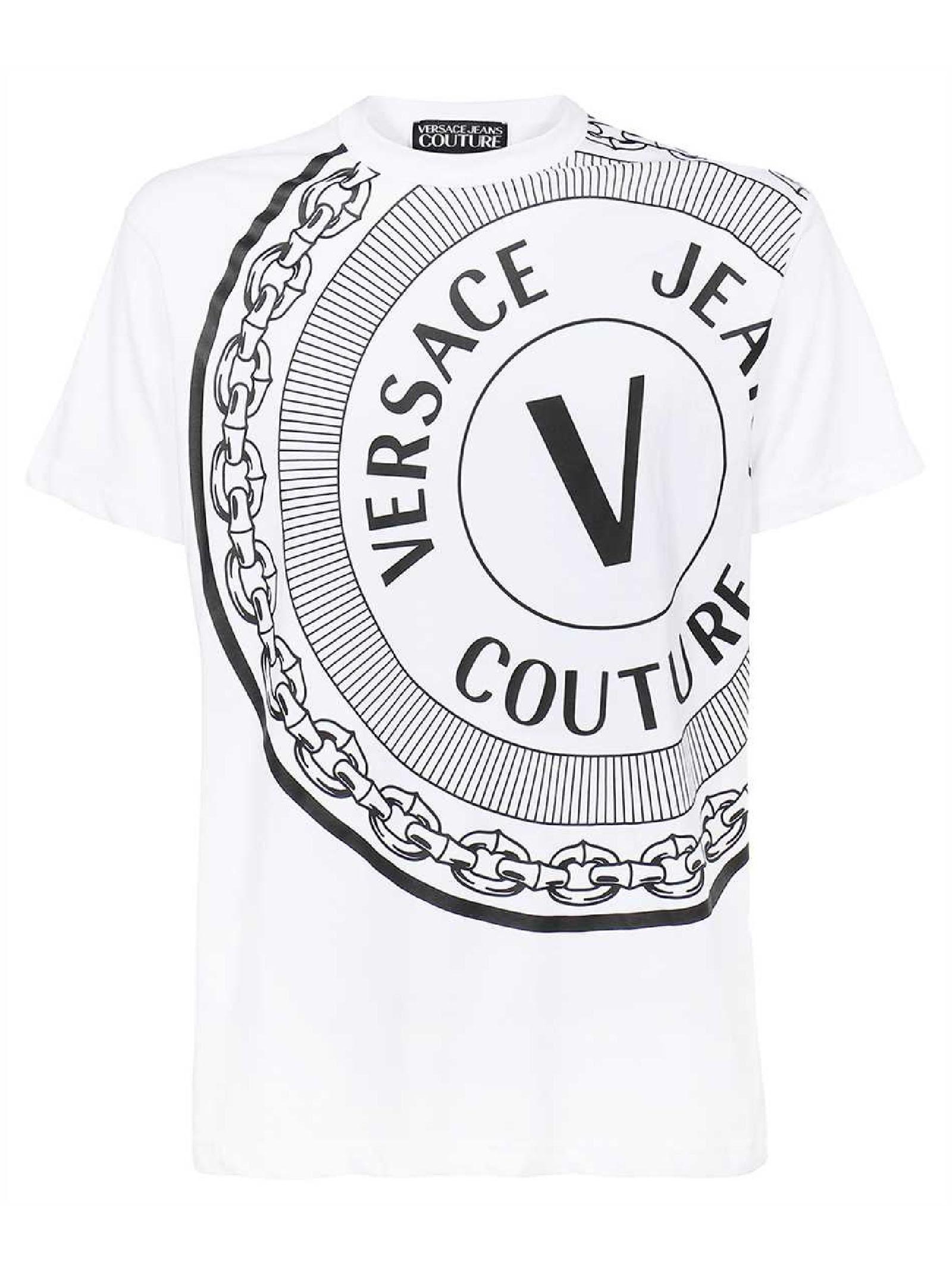 t-shirt maniche corte e stampa VERSACE JEANS   T-shirt   71GAHT19 CJ00T003