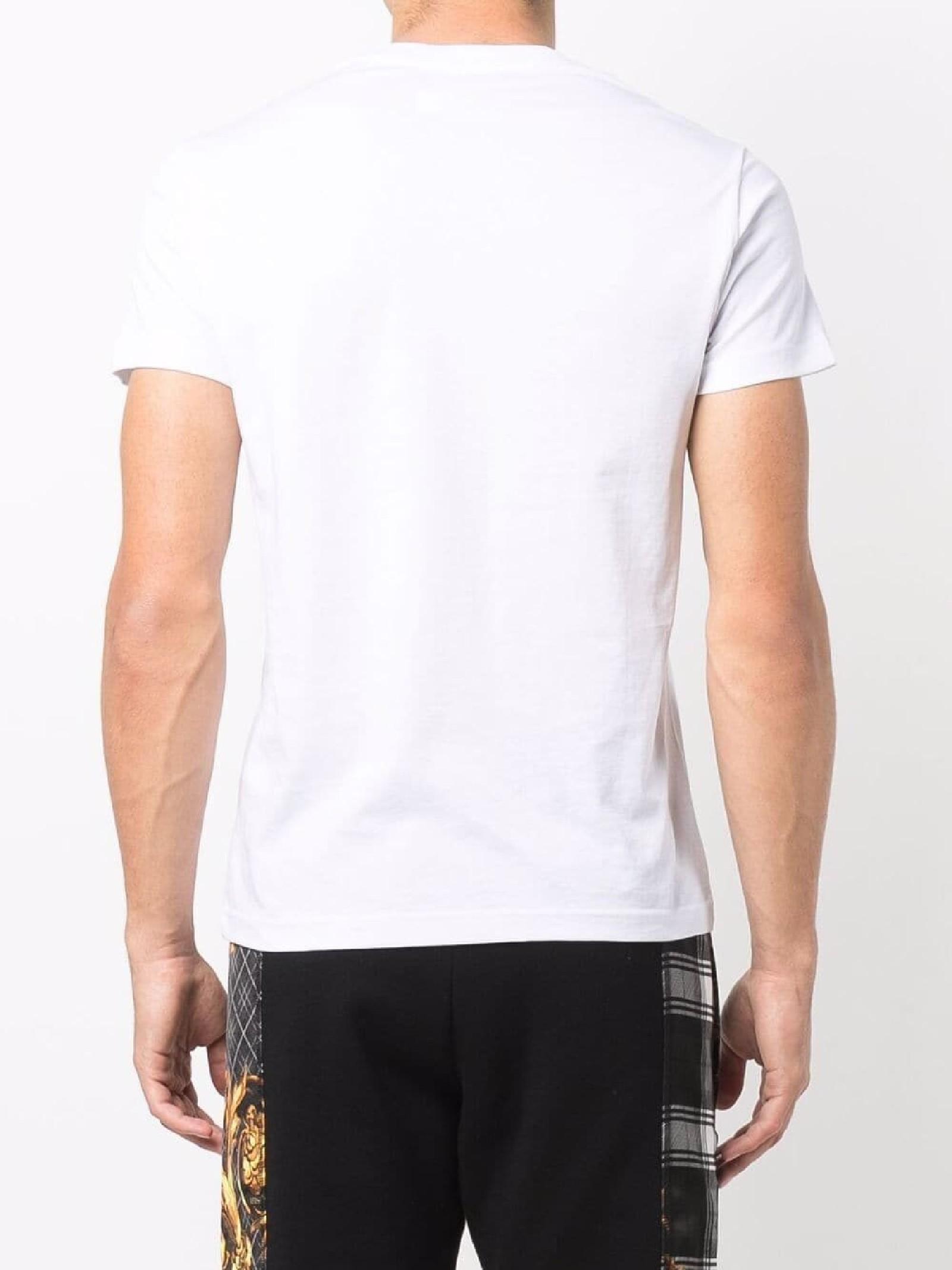 t-shirt maniche corte con stampa VERSACE JEANS | T-shirt | 71GAHT27 CJ00TG03