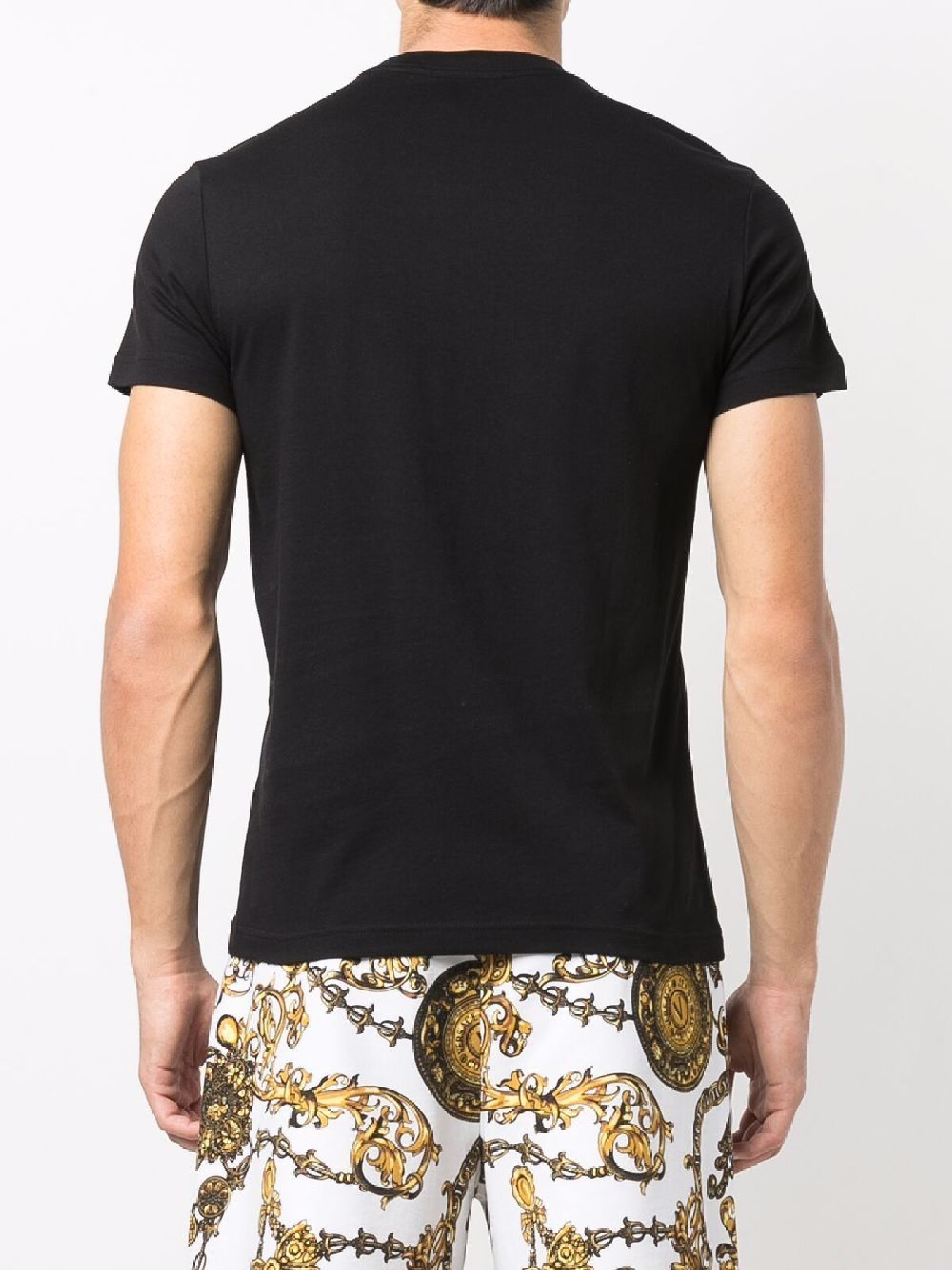 t-shirt maniche corte con stampa VERSACE JEANS | T-shirt | 71GAHT27 CJ00TG89