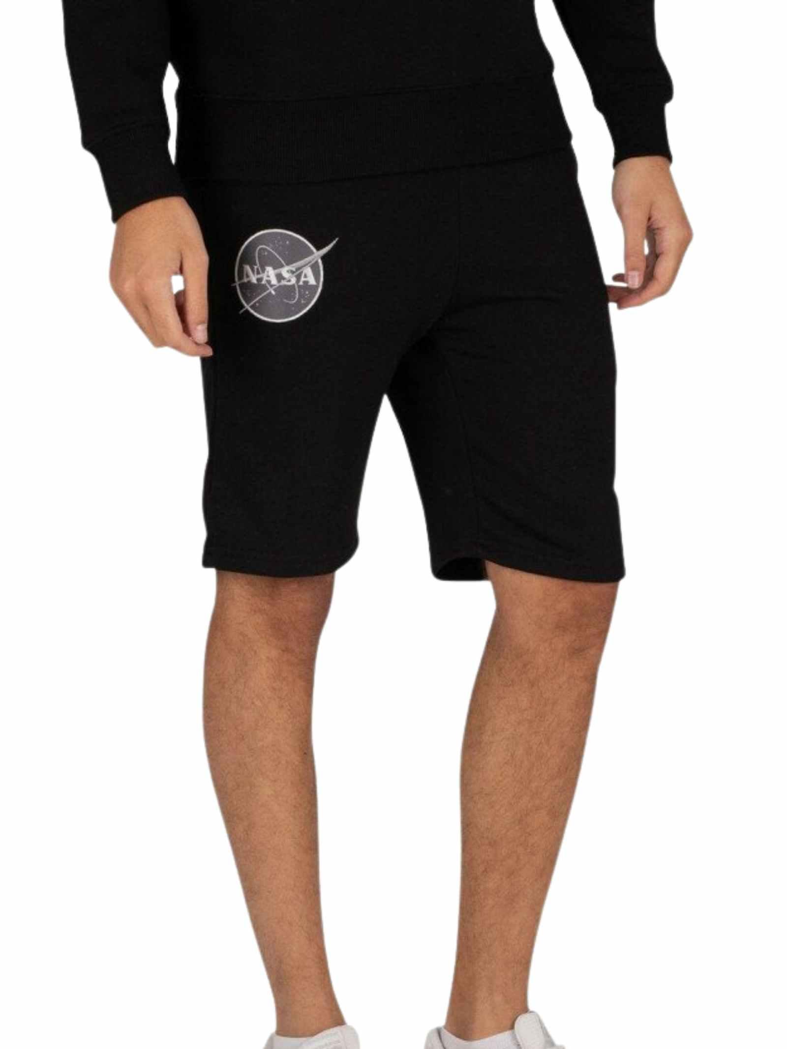 Pantaloncino in tuta nero ALPHA INDUSTRIES | Shorts | 116362A03