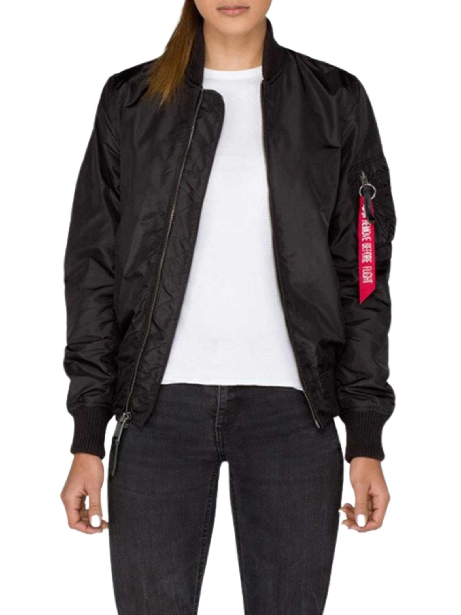 Bomber nero ALPHA INDUSTRIES | Bomber | 141041A03