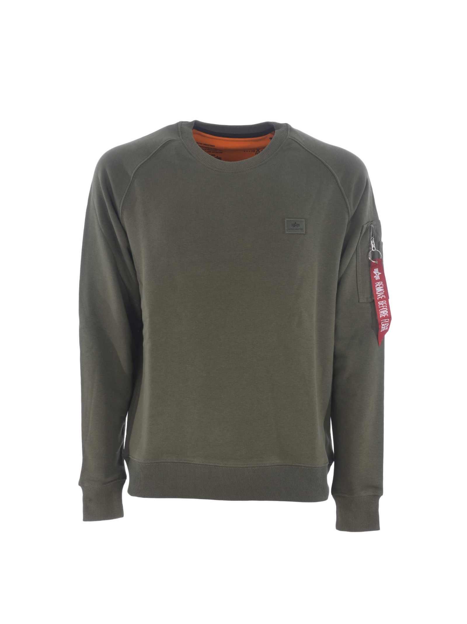 Green crewneck sweatshirt ALPHA INDUSTRIES | Sweatshirt | 158320257