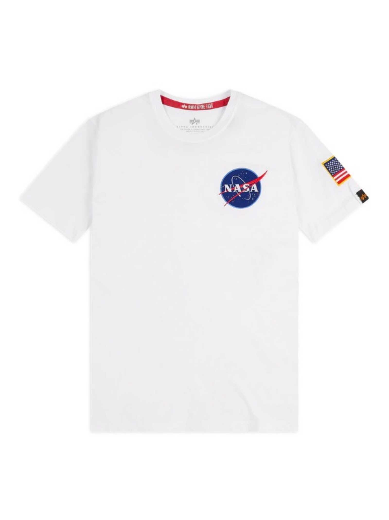 White t-shirt with Nasa logo ALPHA INDUSTRIES | T-shirt | 17650709