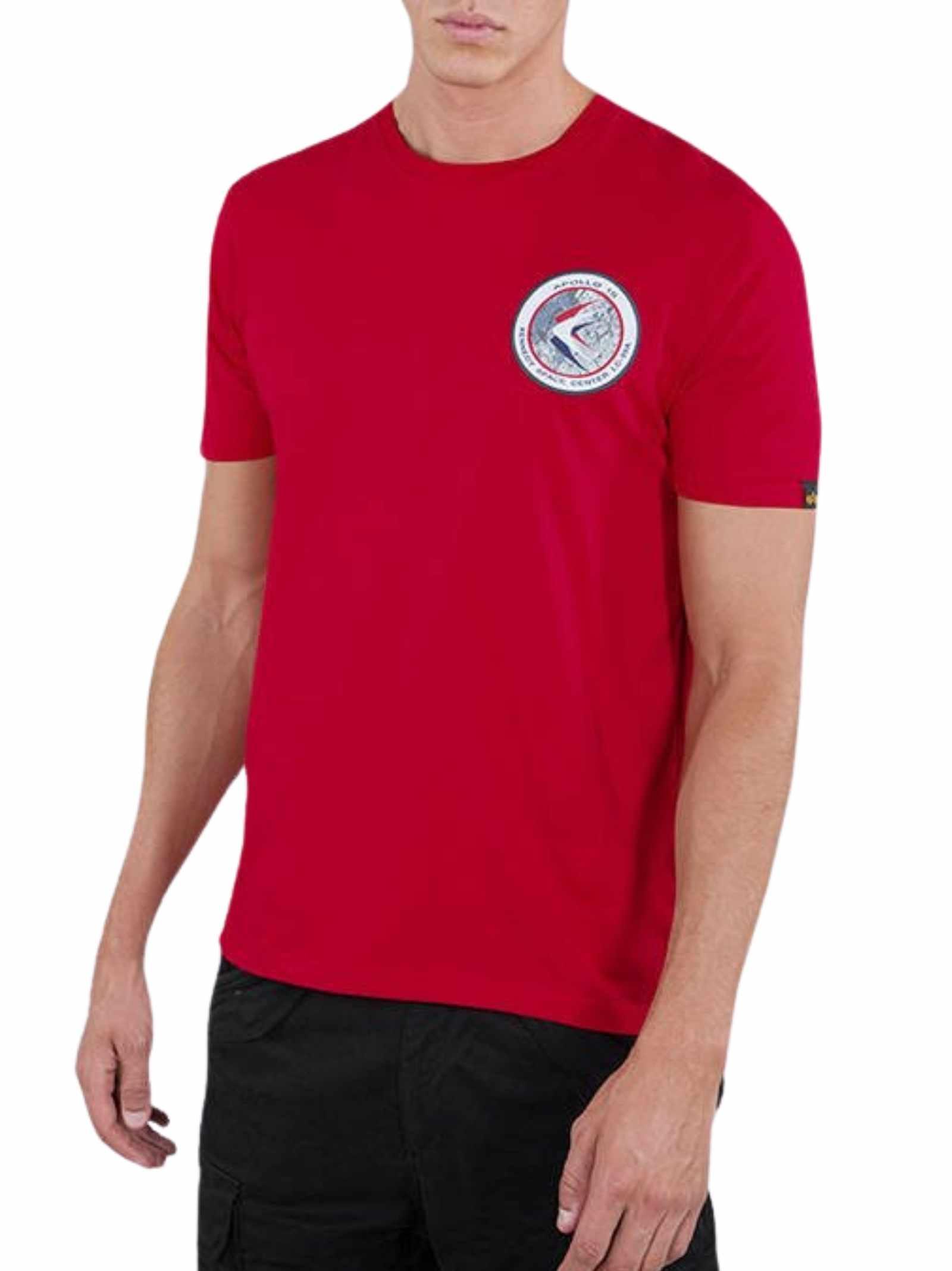T-shirt rossa girocollo con logo ALPHA INDUSTRIES   T-shirt   198501328