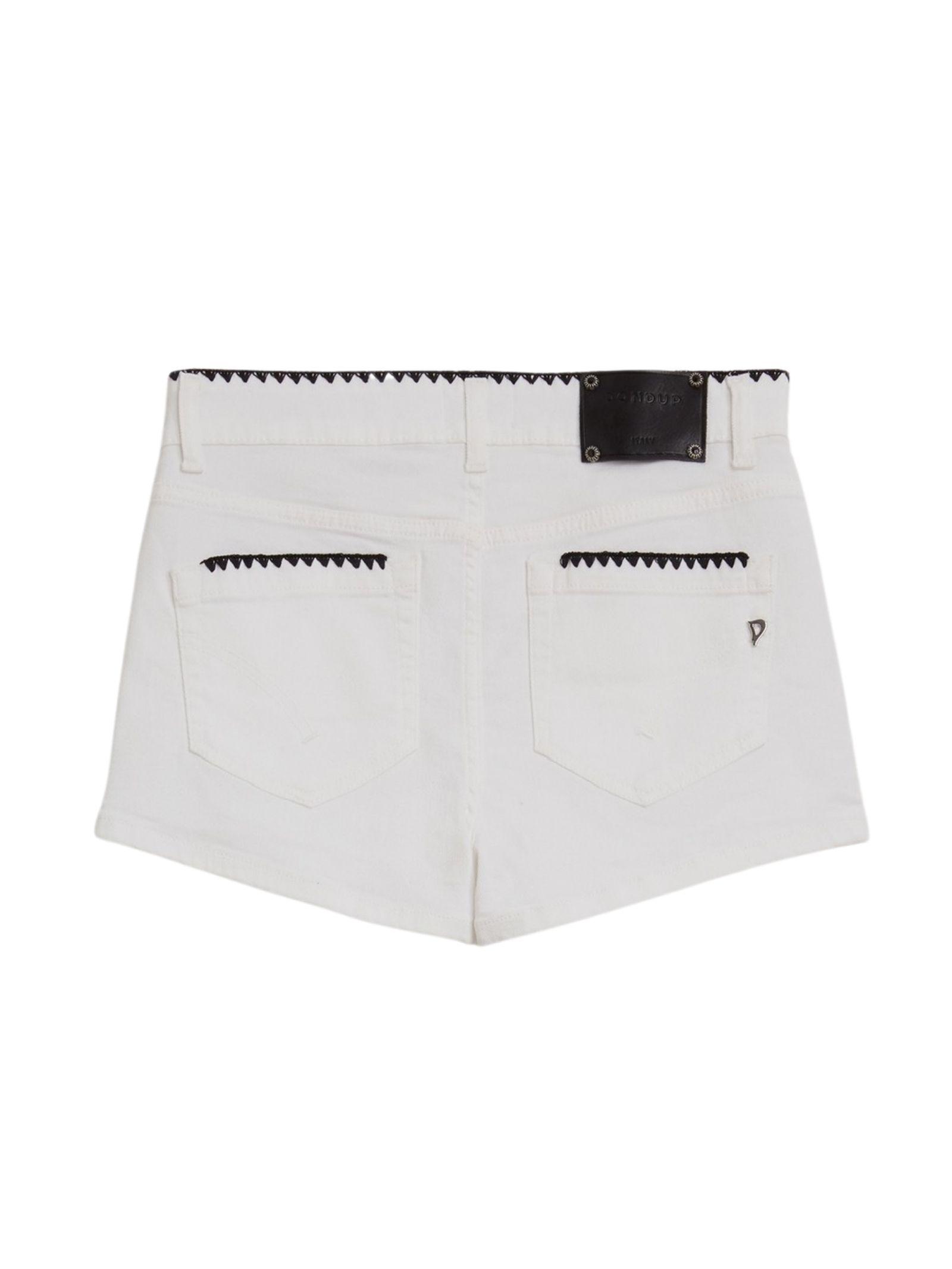 Short in denim bianco DONDUP   Shorts   DP277B BS0030DPTDW