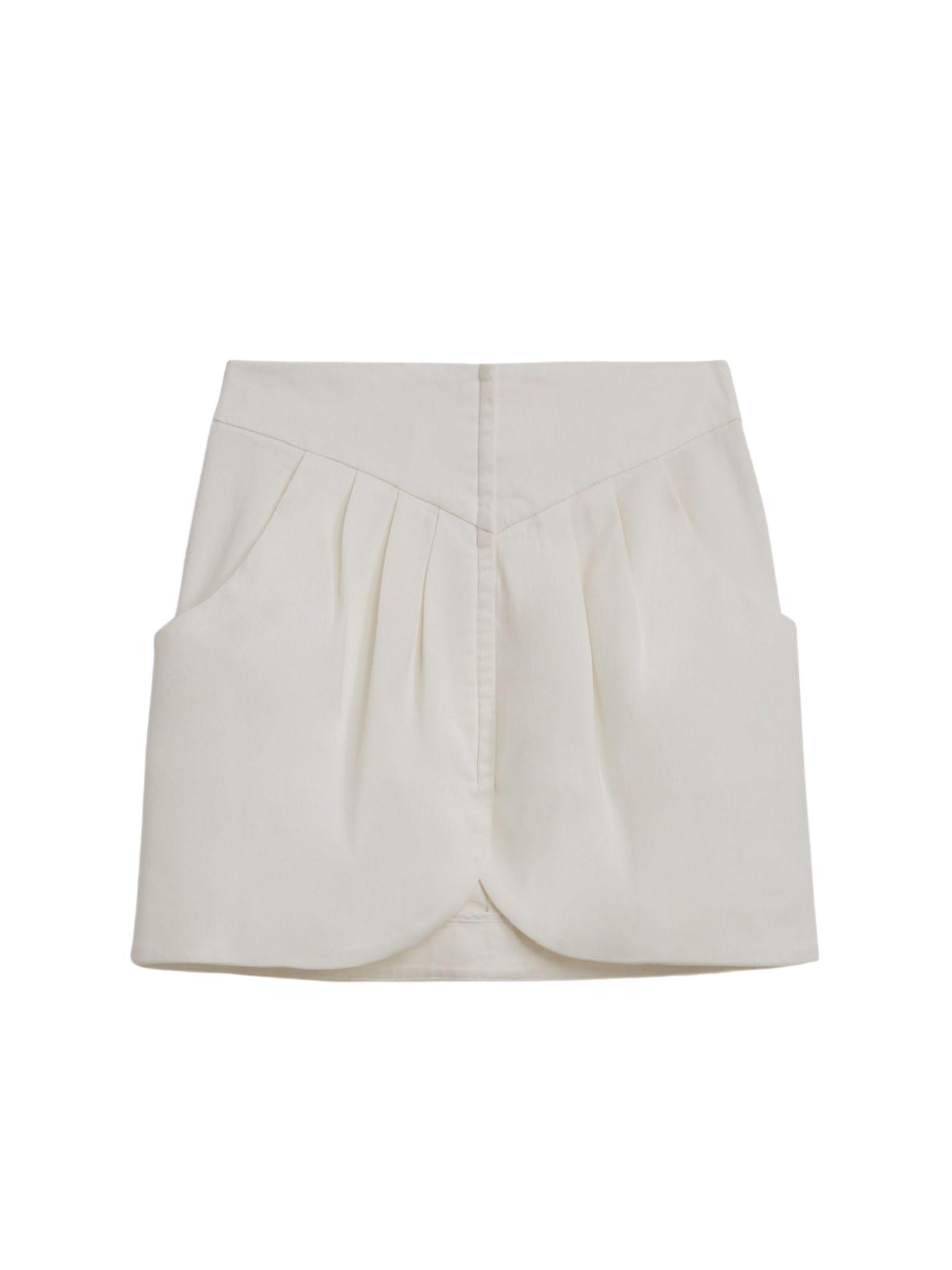 Minigonna bianca a vita alta DONDUP | Gonna | G485 GSE045DPTD 001