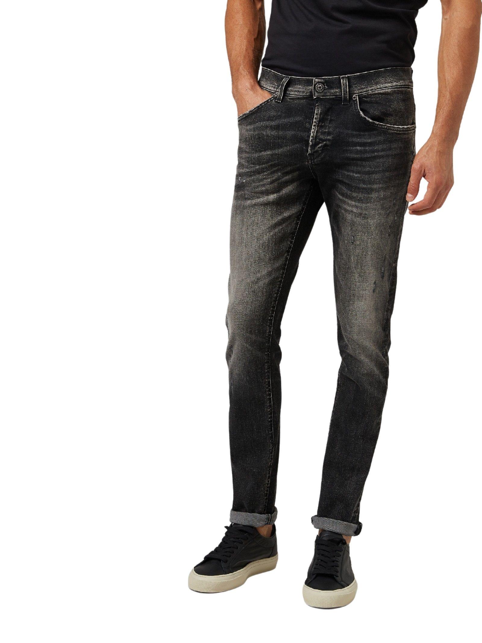 Jeans regular neri stone washed DONDUP | Jeans | UP232 DSE295BA8W
