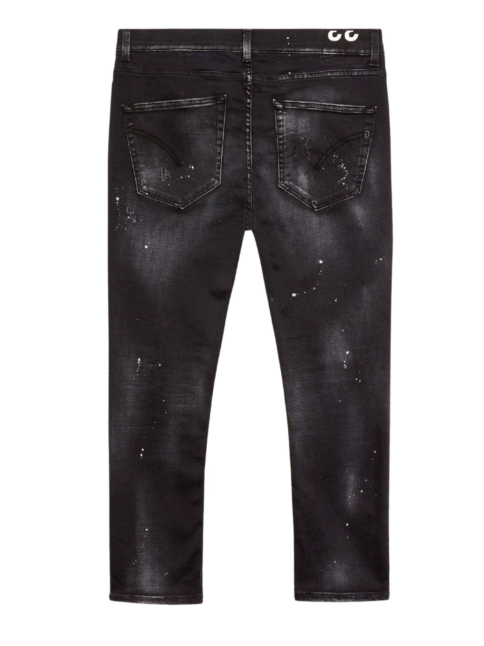 Jeans regular neri stone washed DONDUP | Jeans | UP575 DSE298UBP6