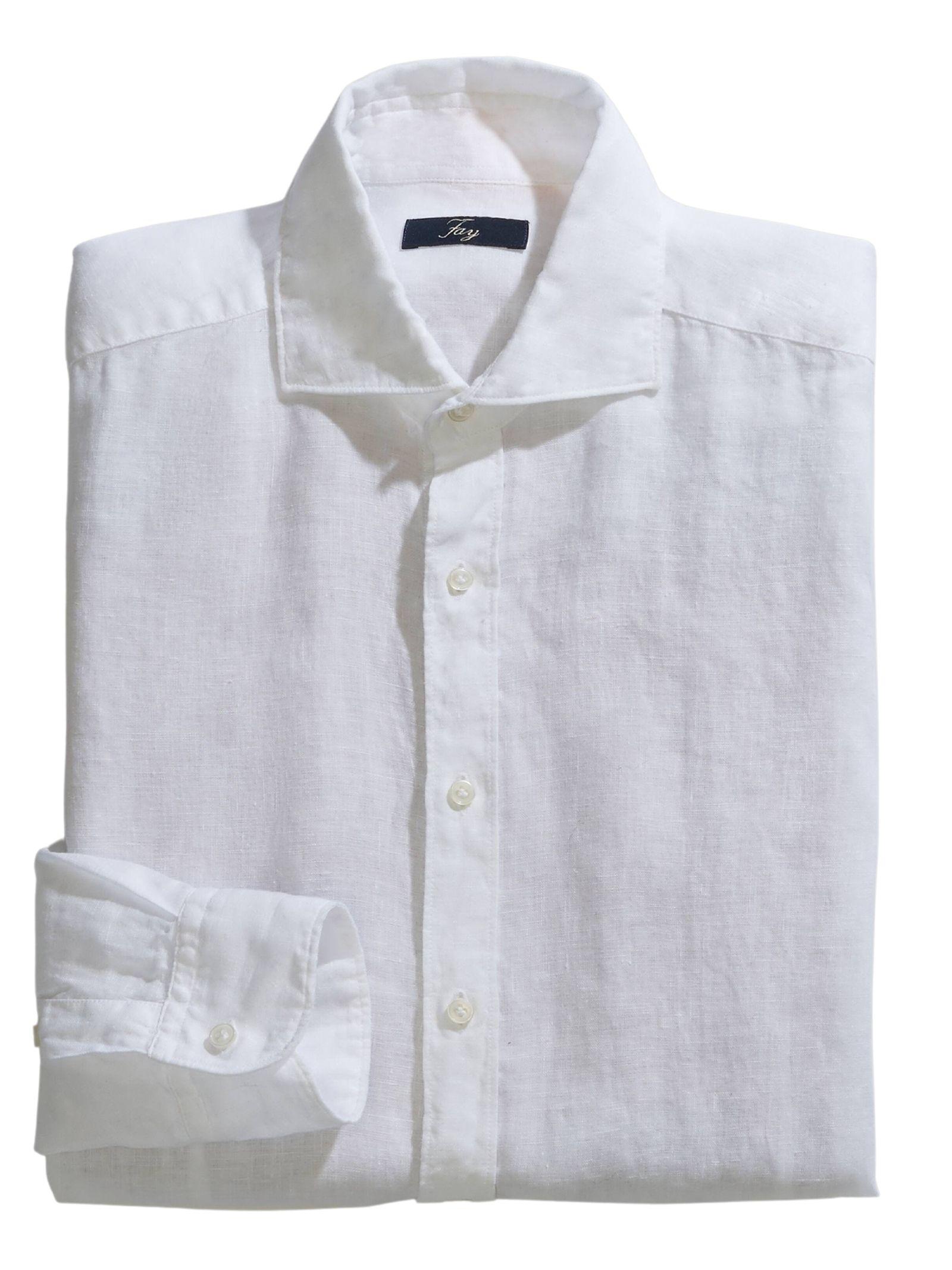 Camicia Collo Francese in Lino FAY | Camicia | NCMA142259THTKB001