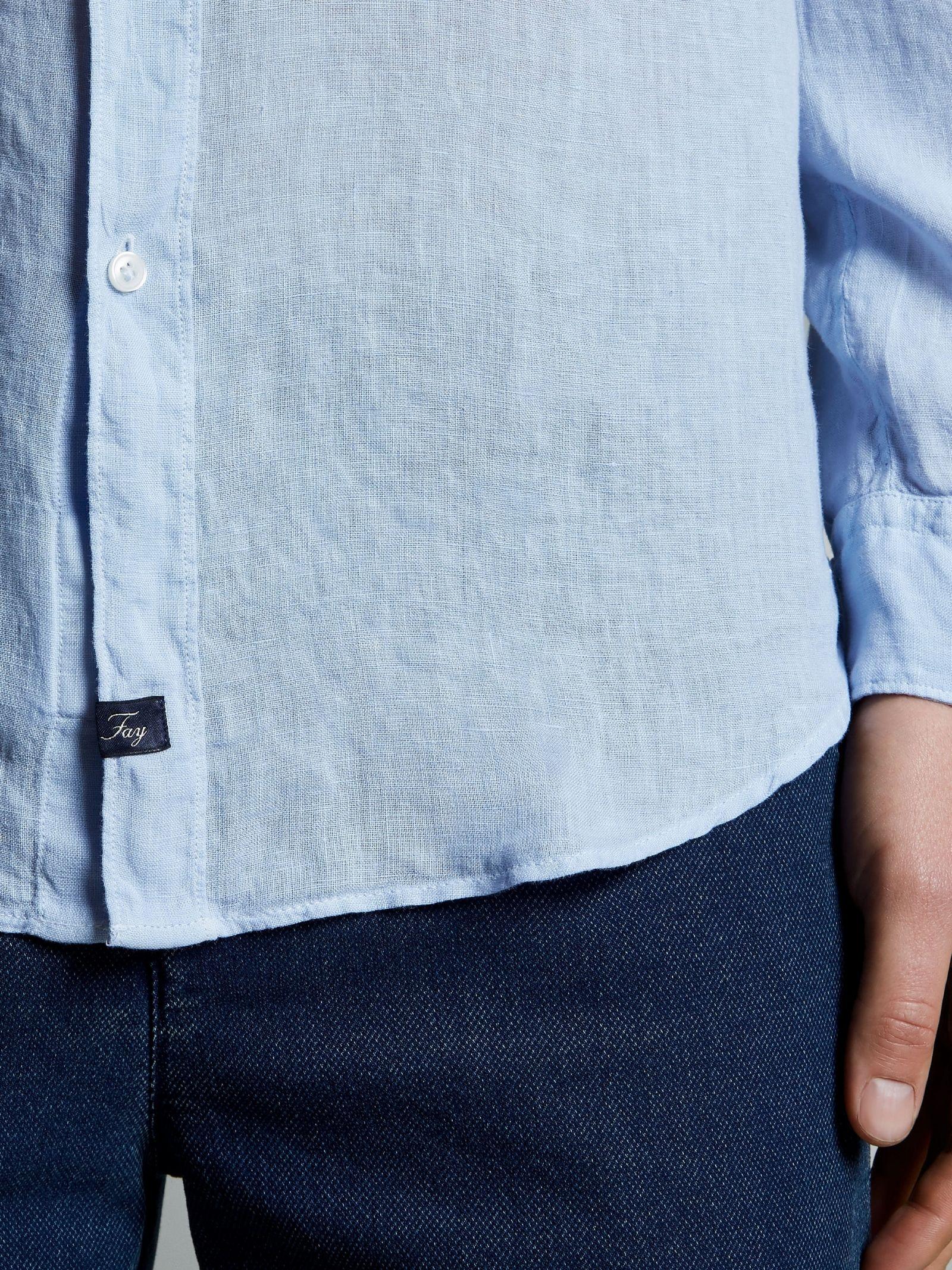 Camicia Collo Francese azzurra FAY | Camicia | NCMA142259THTKU003