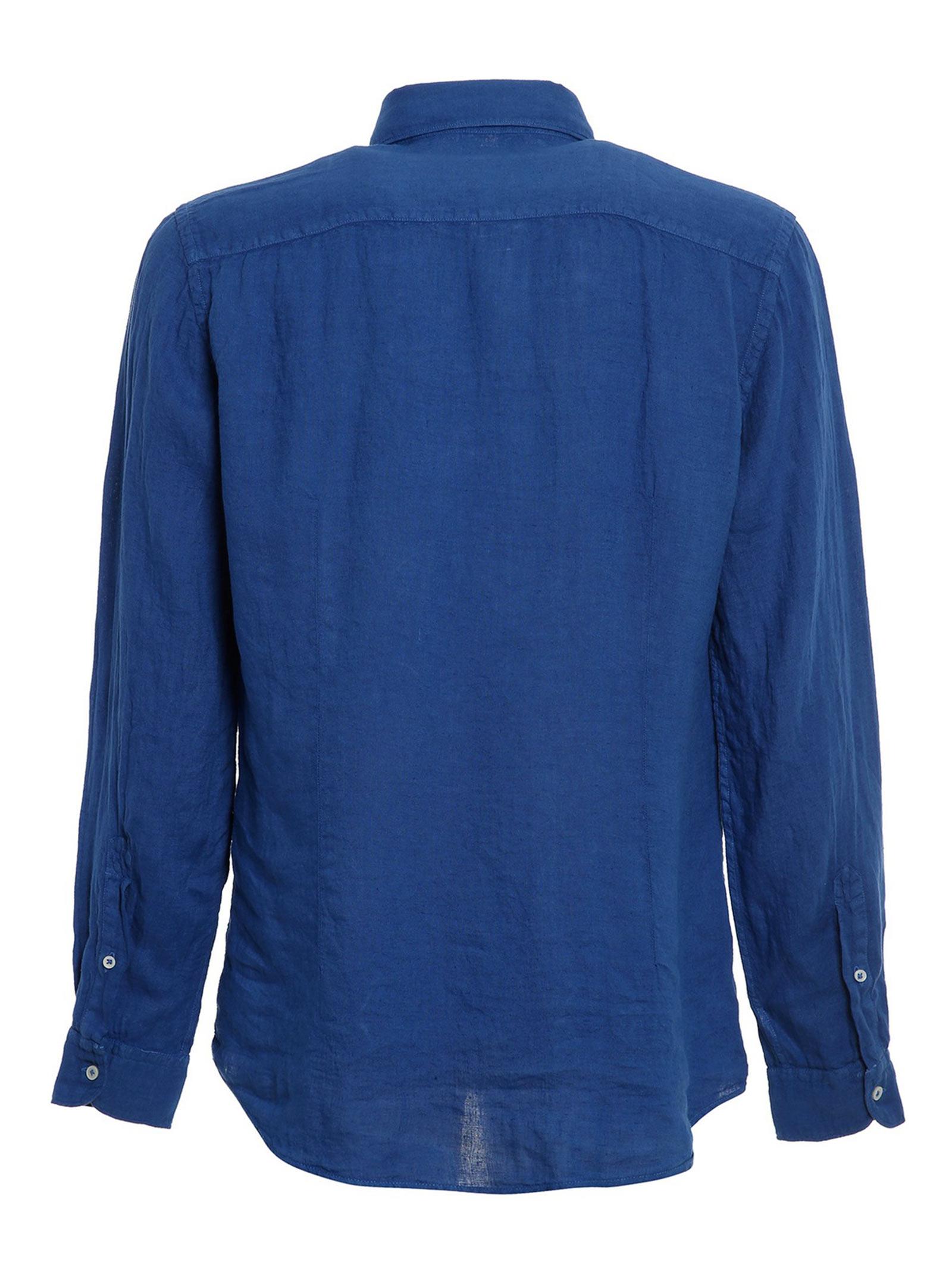 Camicia Collo Francese blue  FAY   Camicia   NCMA142259THTKU615