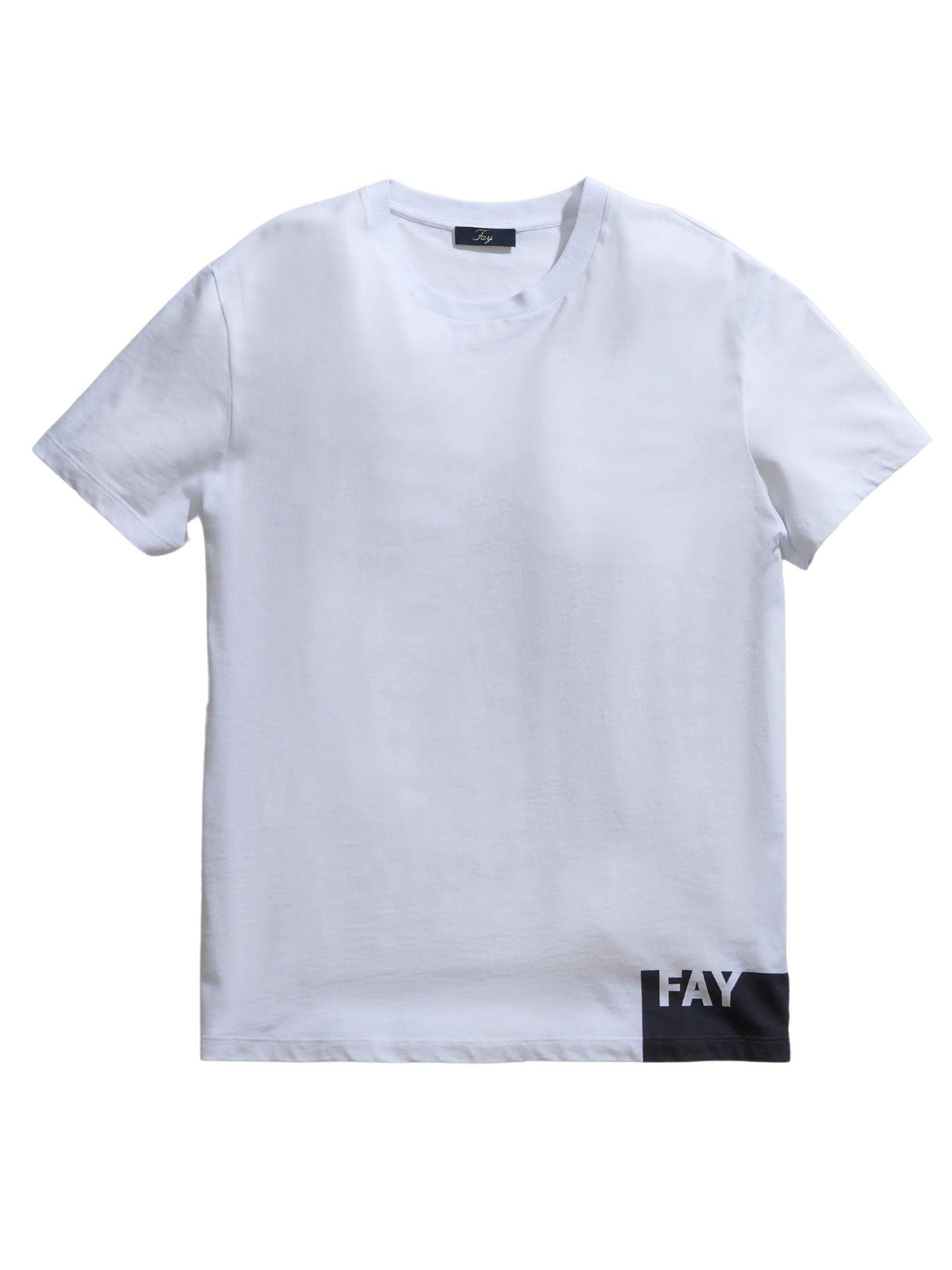 T-Shirt bianca FAY   T-shirt   NPMB3421310SHOB001