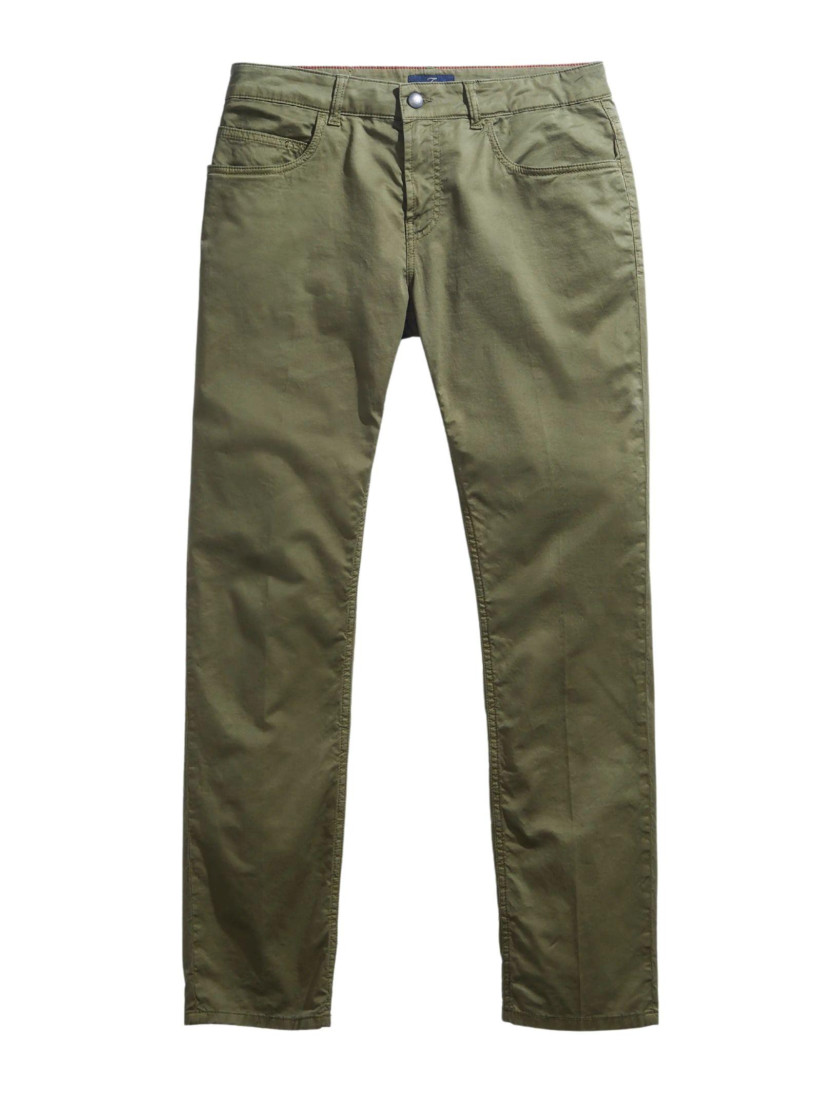 Pantalone 5 Tasche verde FAY | Pantalone | NTM8242180TGURV616