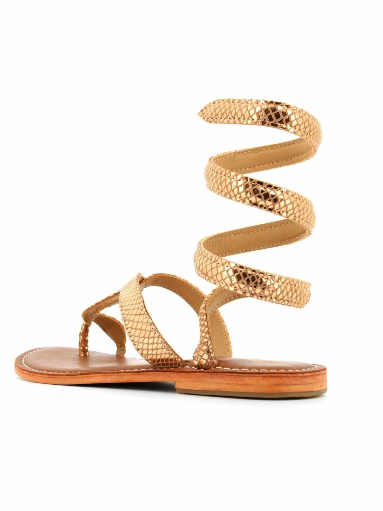 Sandalo laminato in oro FUSION | Sandalo | CBF.R217037PKG