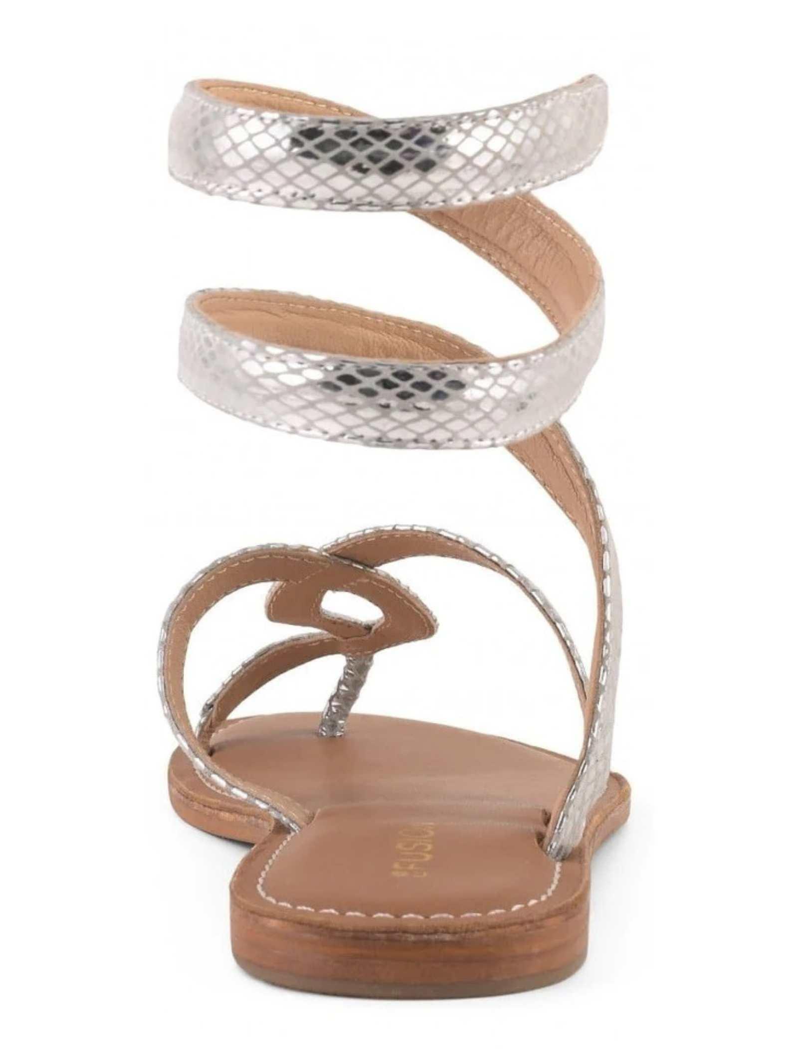 Sandalo laminato in argento FUSION | Sandalo | CBF.R217037SIL