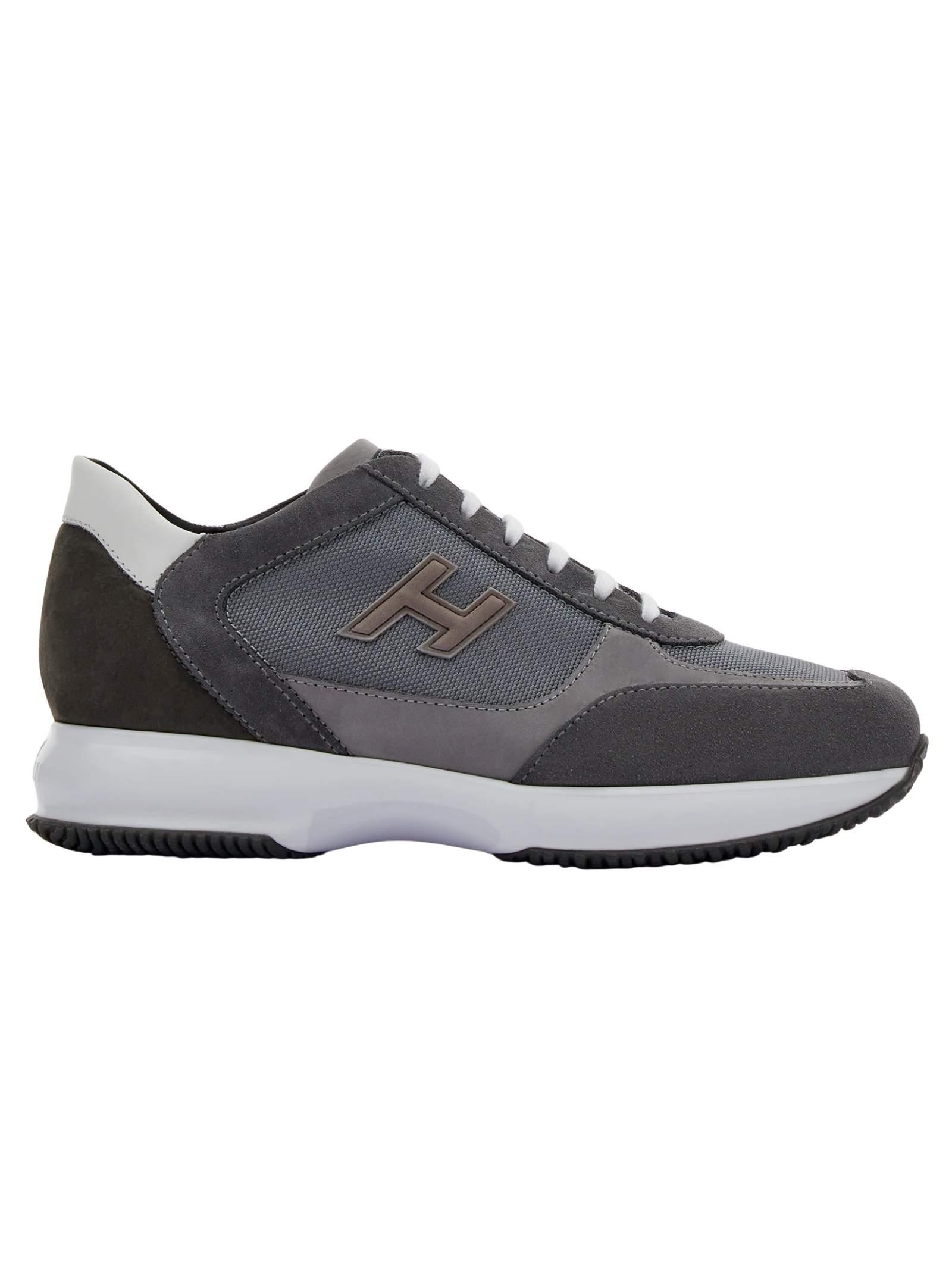 Sneakers in pelle e camoscio con H flock HOGAN   Scarpe   HXM00N0Q101PDU647L