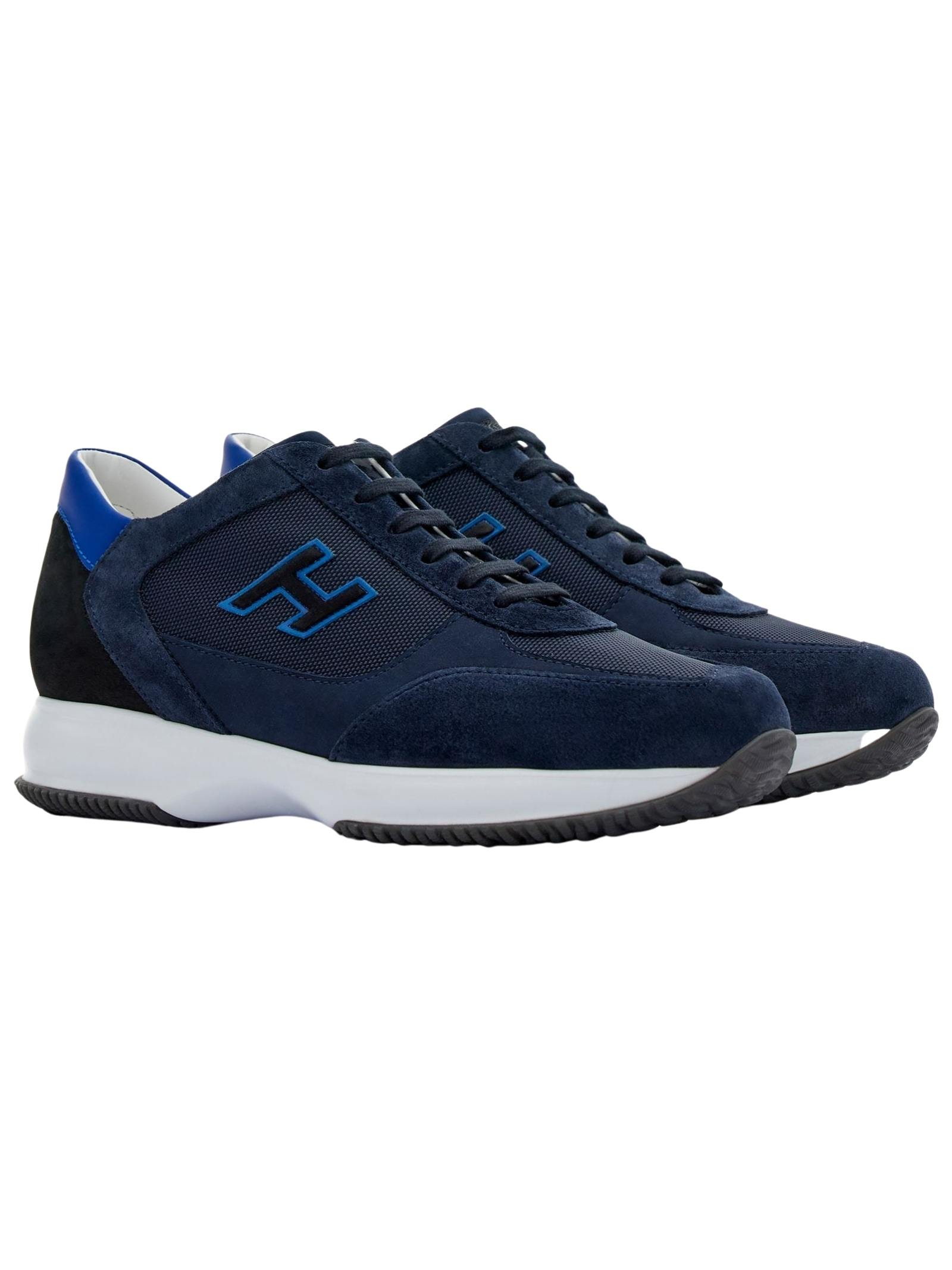 Sneakers in pelle e camoscio con H flock HOGAN   Scarpe   HXM00N0Q101PDU647N