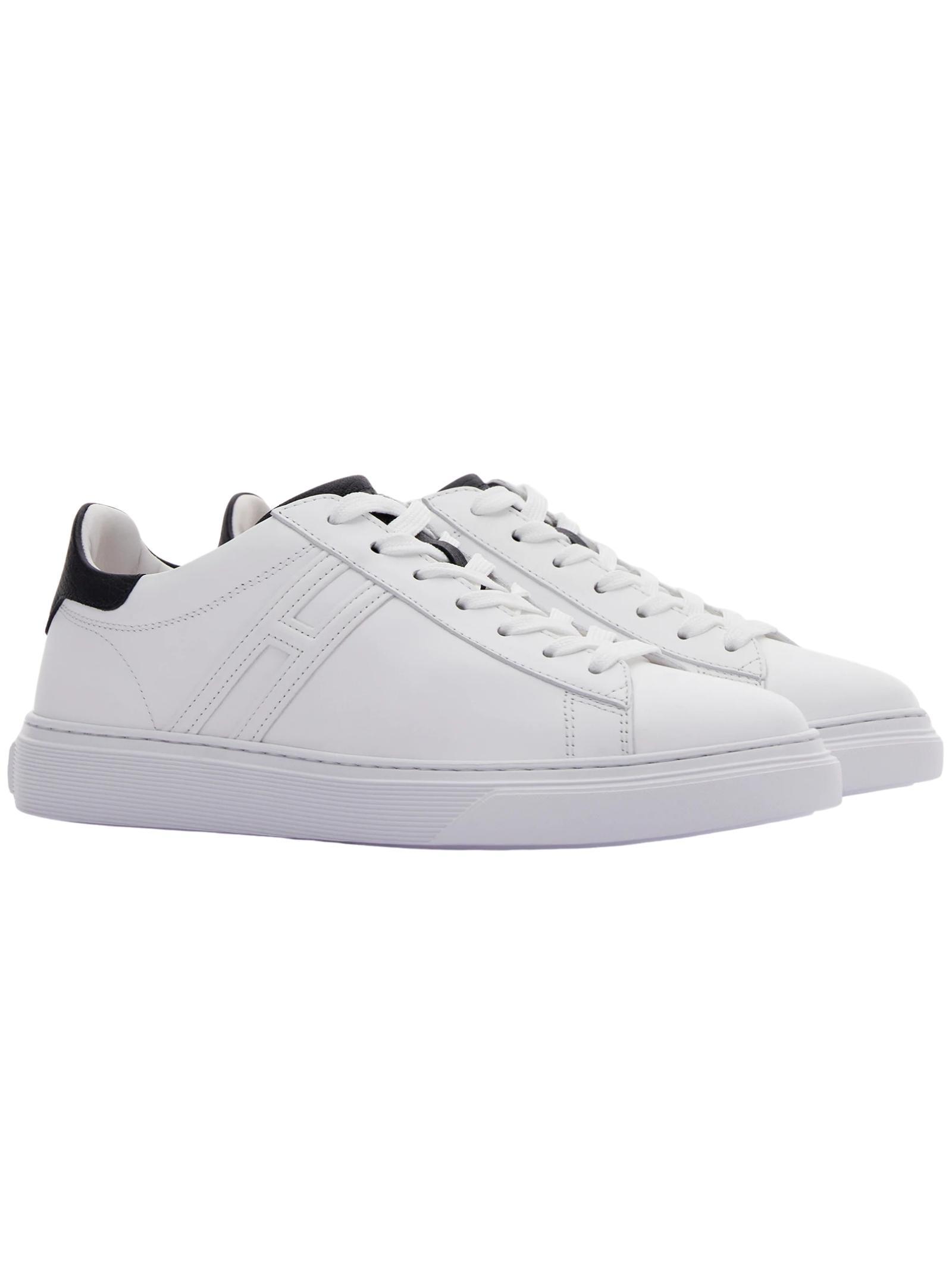 Sneakers Hogan in pelle scamosciata bianca HOGAN   Scarpe   HXM3650J960KFN0001