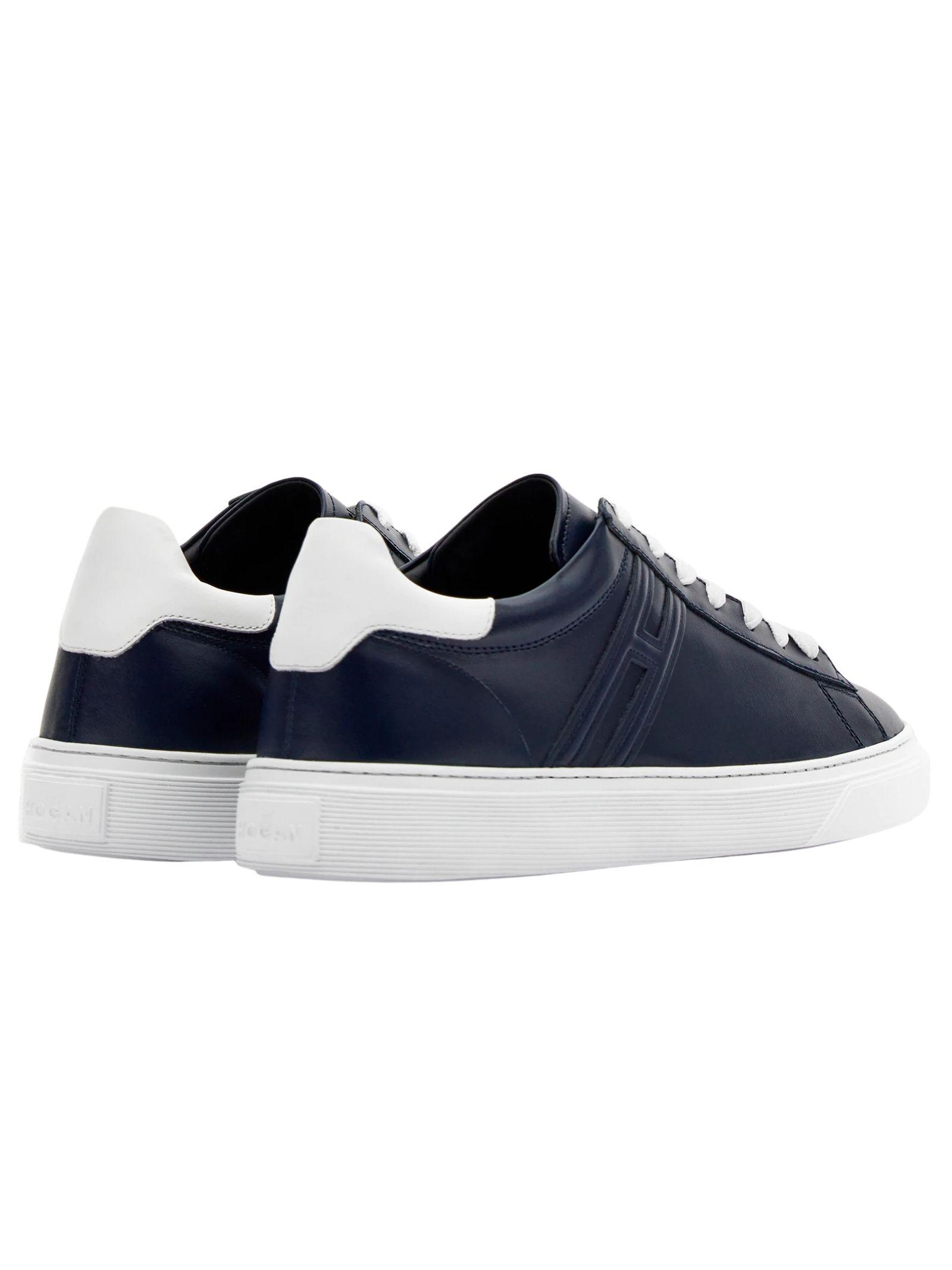 Sneakers Hogan in pelle blu