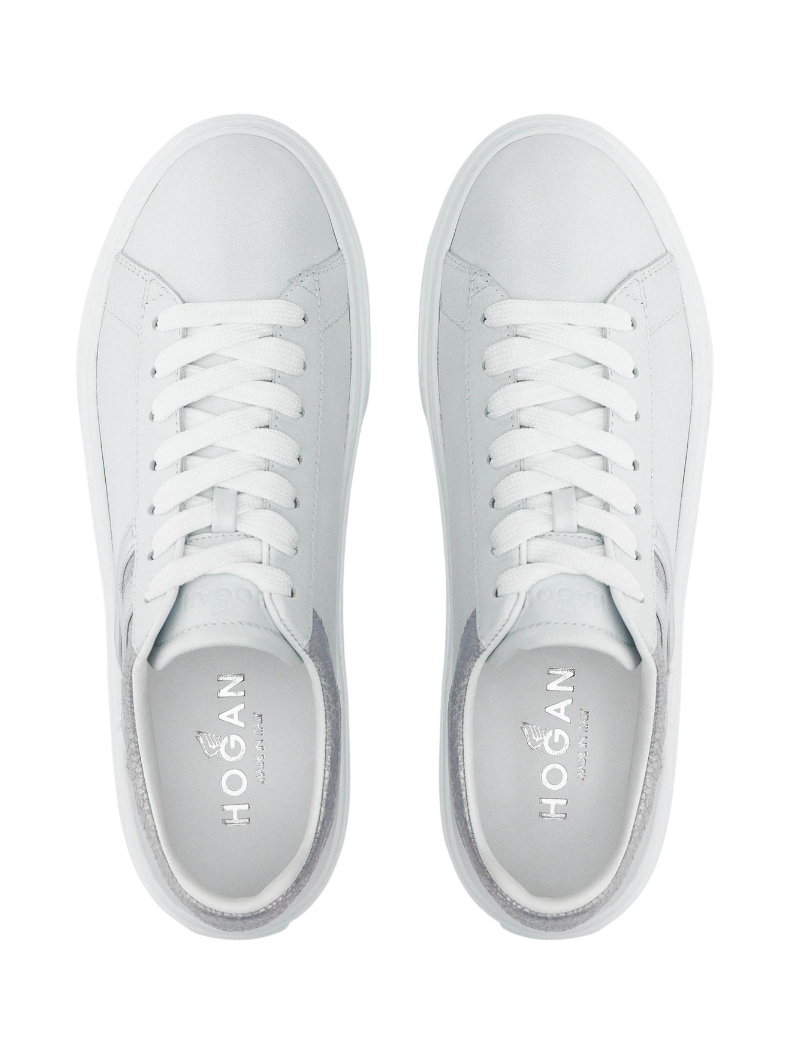 Sneakers in pelle e glitter HOGAN | Scarpe | HXW3650J970P970351