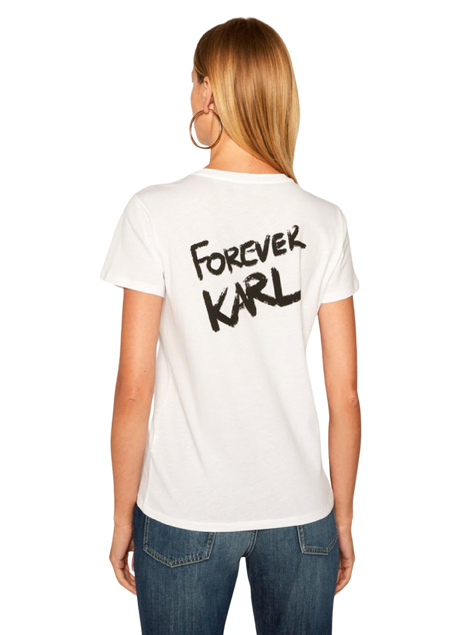 Forever Karl T-Shirt  bianca KARL LAGERFELD   T-shirt   205W1702.21100
