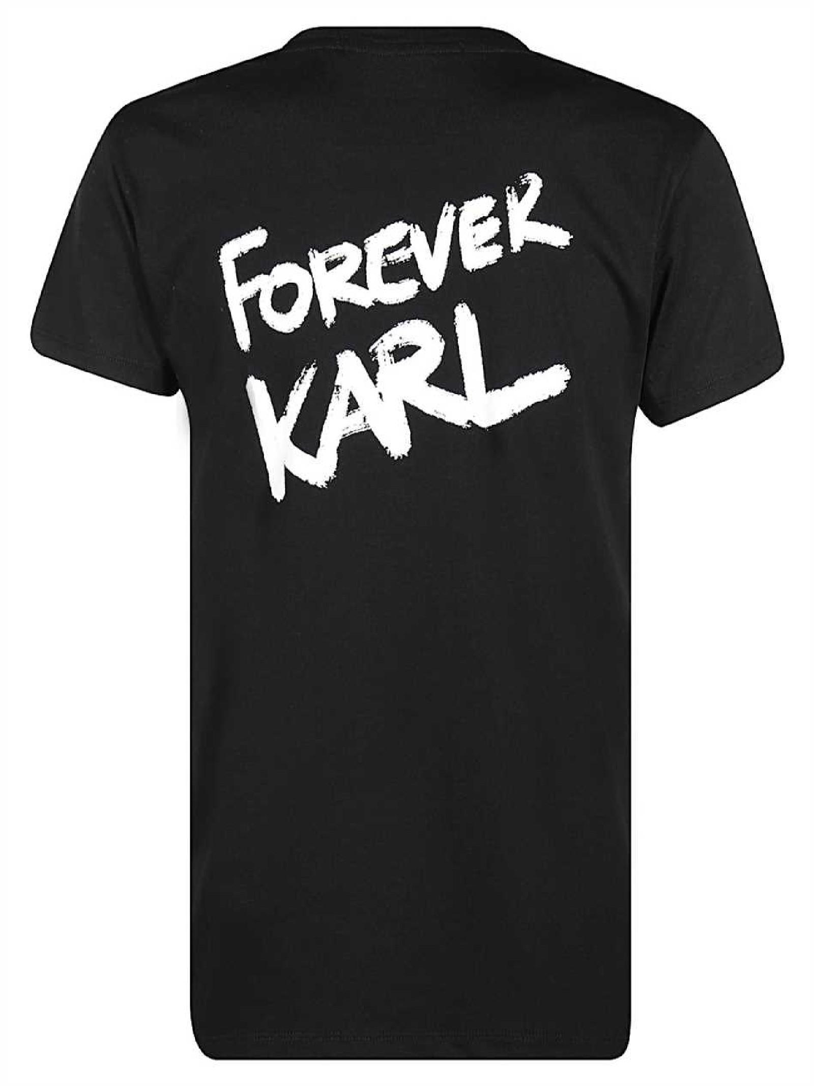 Forever Karl T-Shirt  nera KARL LAGERFELD | T-shirt | 205W1702.21999