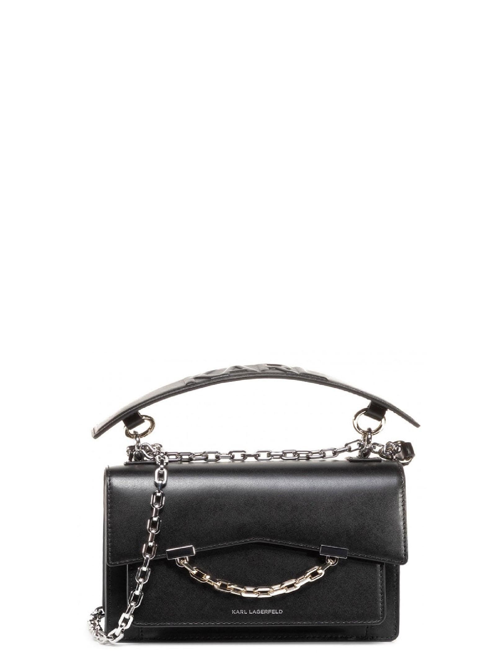 Leather handbag KARL LAGERFELD   Bag   205W3067.21999/A999