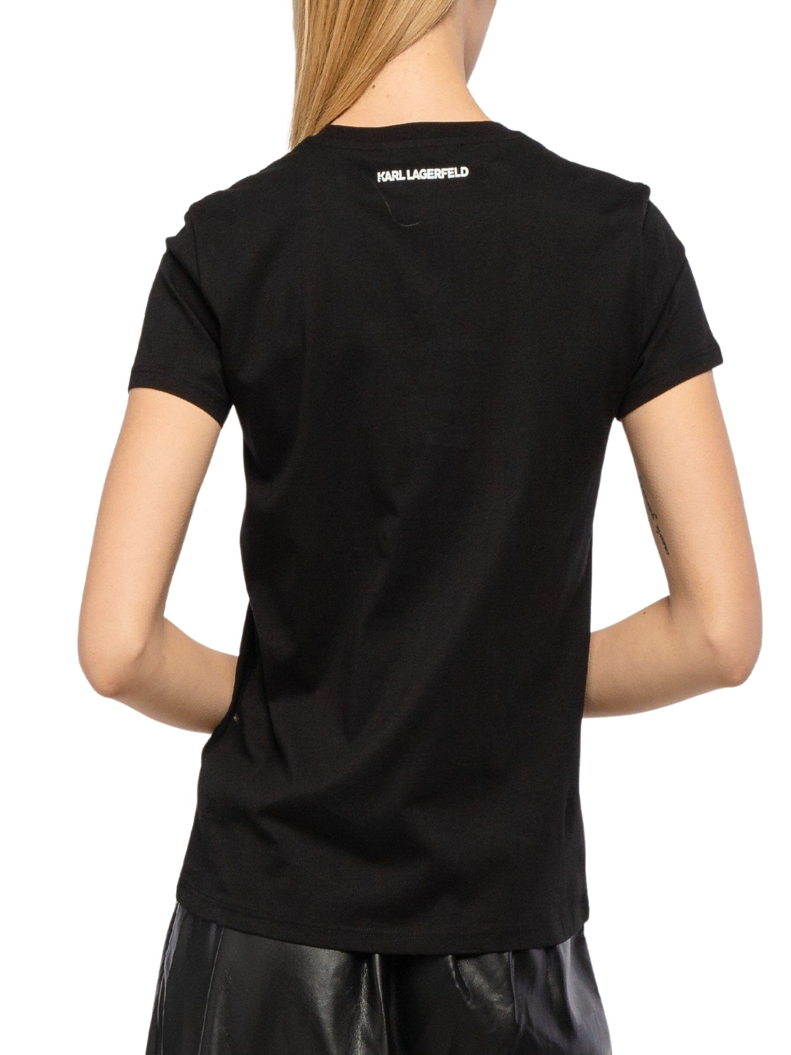 T-shirt neracon stampa KARL LAGERFELD | T-shirt | 210W1725.21999