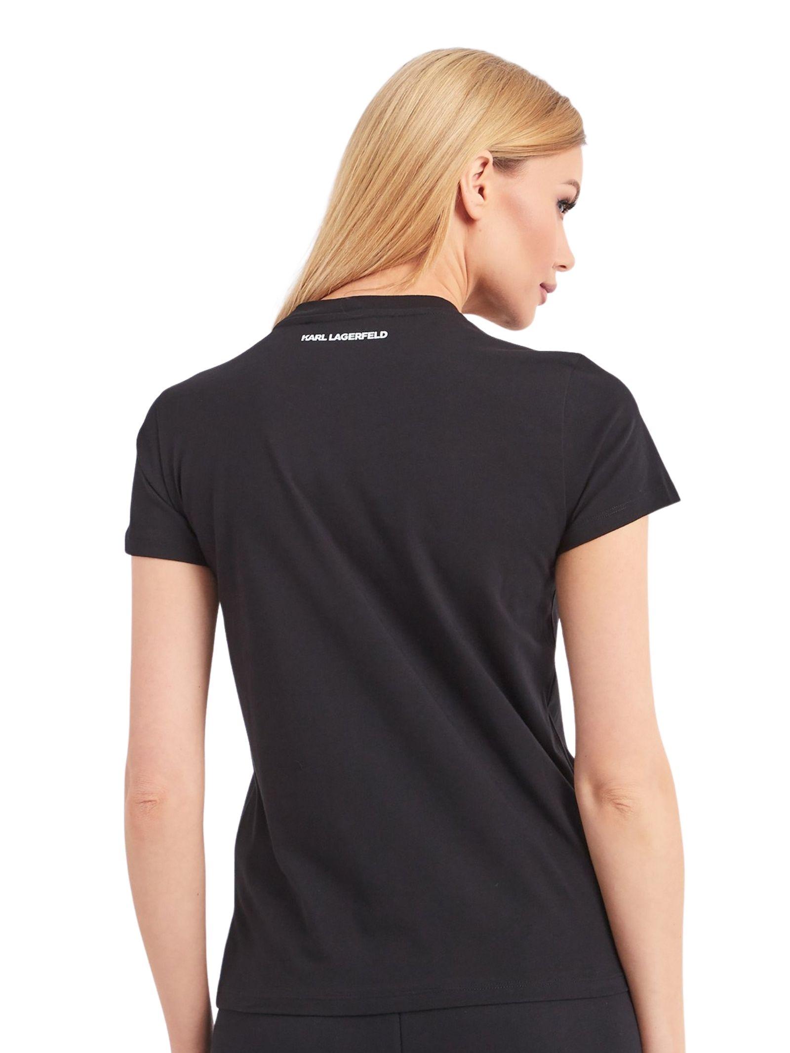 T-shirt con strass applicati KARL LAGERFELD   T-shirt   210W1726.21999