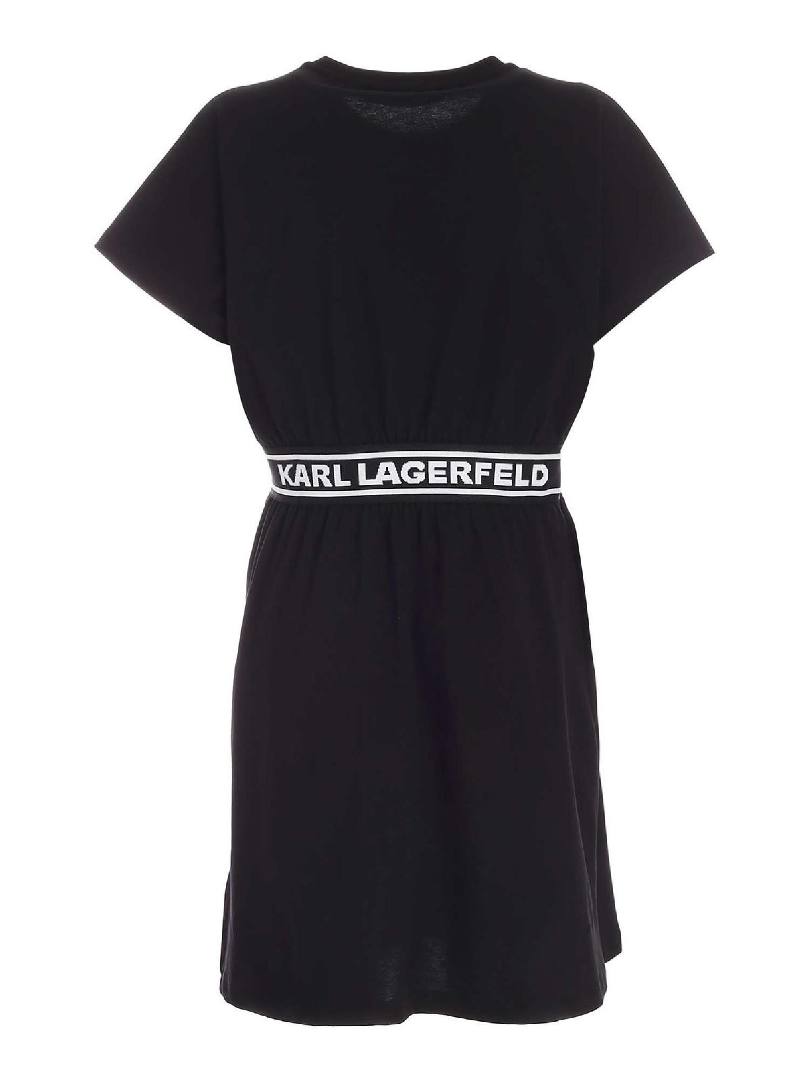 Abito casual  nero con nastro KARL LAGERFELD   Shirt dress   211W1361999