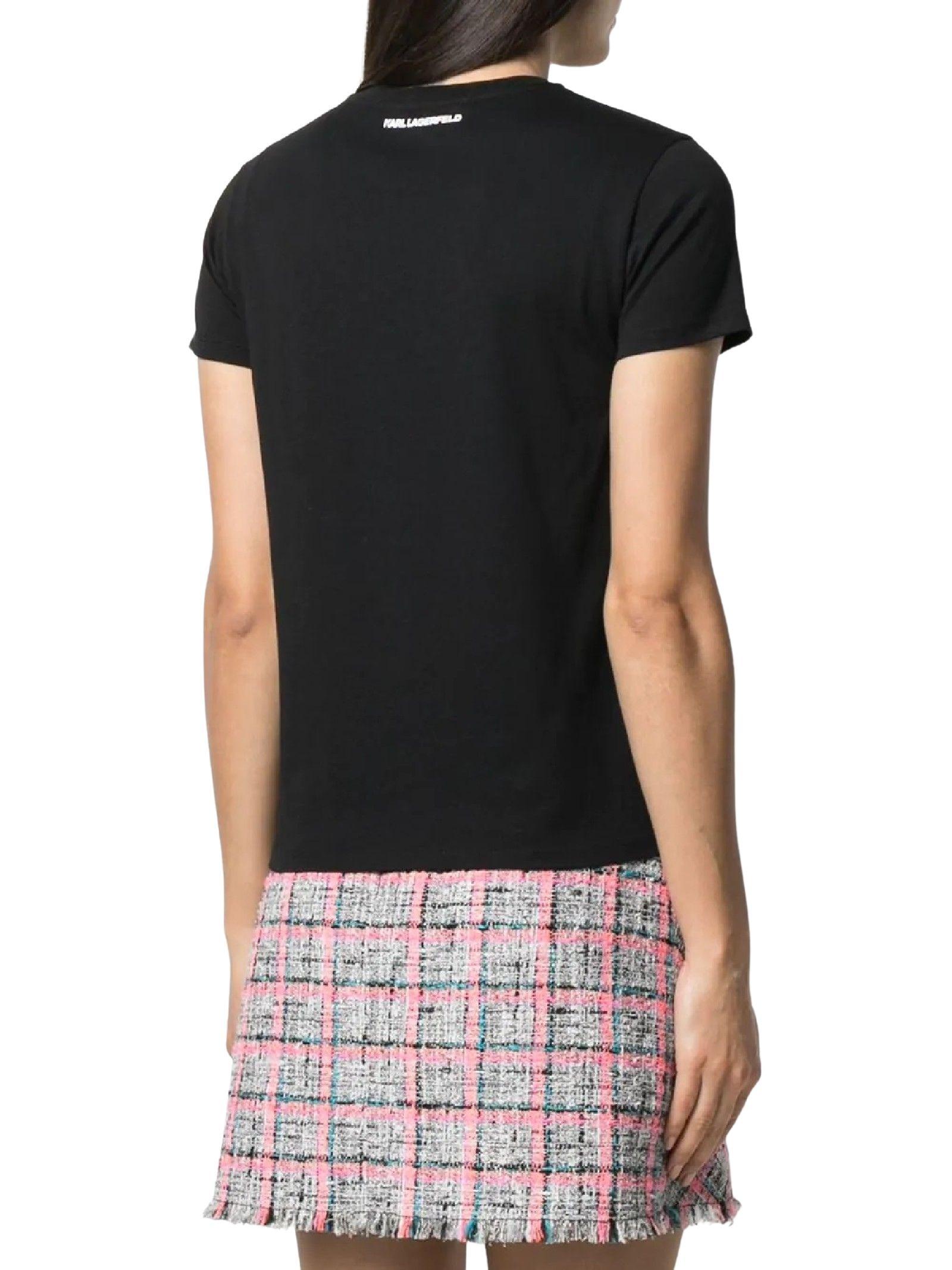 T-SHIRT CON PROFILO KARL BOUCLÉ KARL LAGERFELD   T-shirt   211W1702999