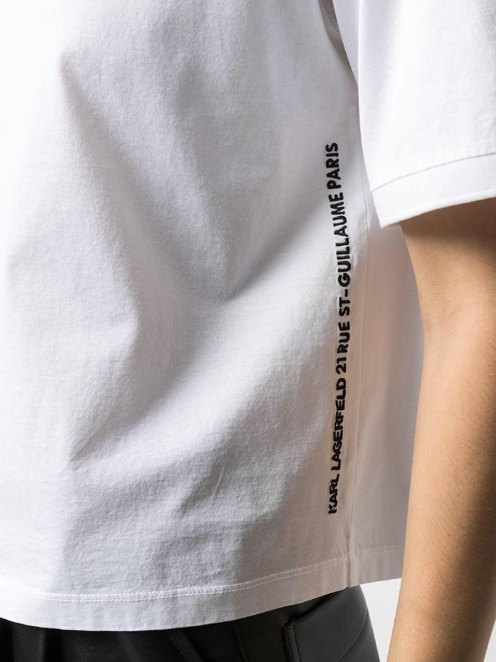T-shirt logo print KARL LAGERFELD   T-shirt   211W1707100