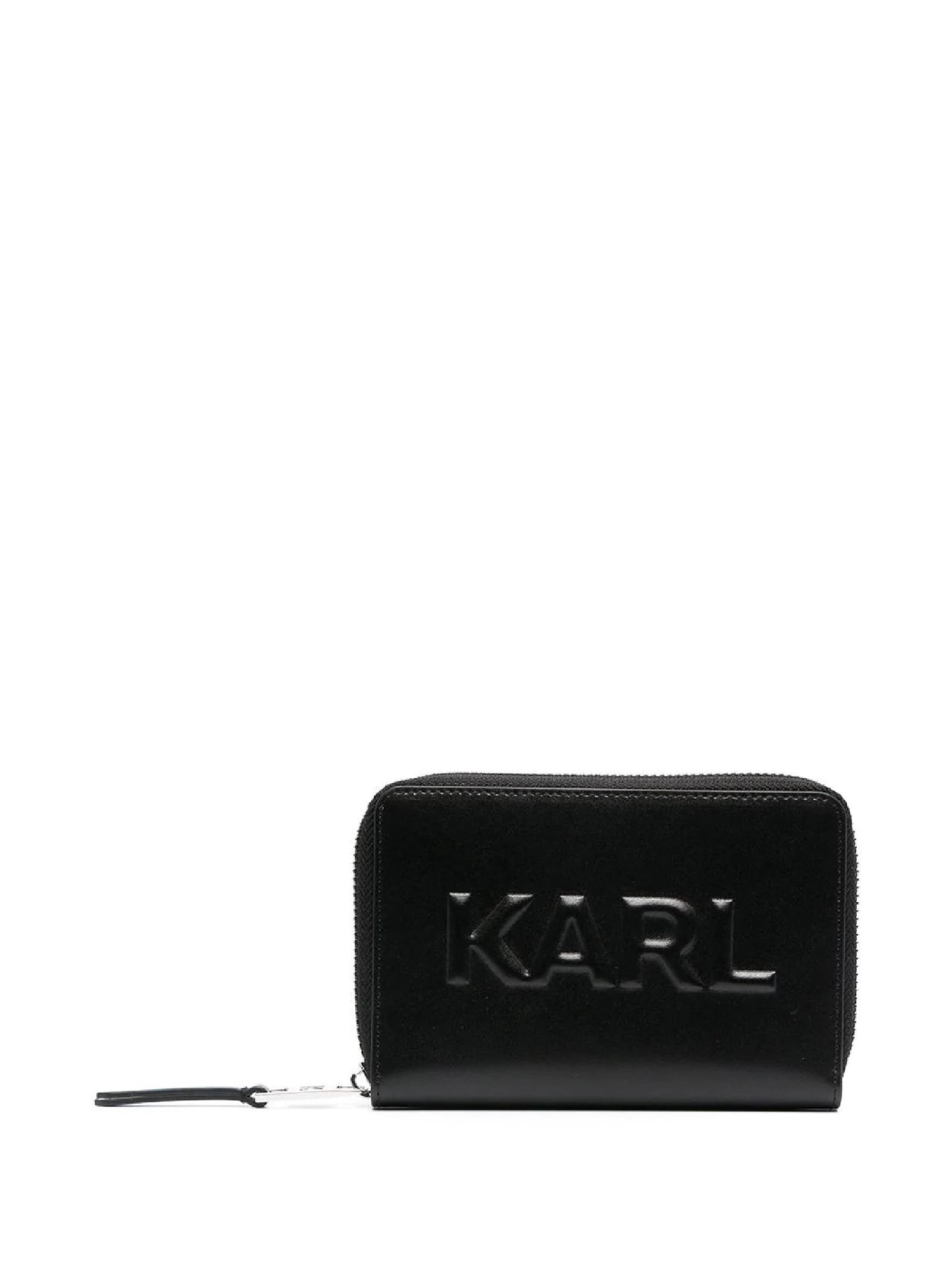 K/KARL SEVEN PORTAFOGLIO MEDIO GOFFRATO KARL LAGERFELD | Portafogli | 211W3217999/A999